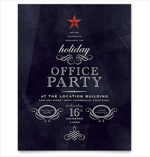 Party Flyer Templates Free Microsoft Word Holiday Party Flyer Christmas Party Invitation Template Office Christmas Party Invitation