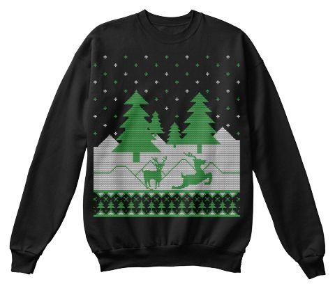 Cheap Christmas Jumper Black T-Shirt Front