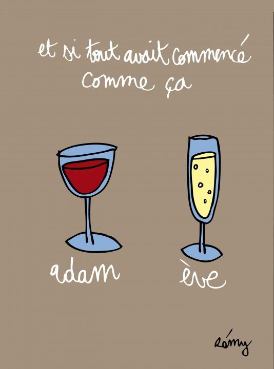 French Wine Humor Cartoon Great Product