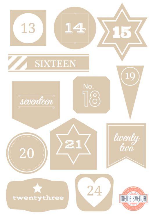 17 best ideas about adventskalender zahlen on pinterest for Pinterest kostenlos
