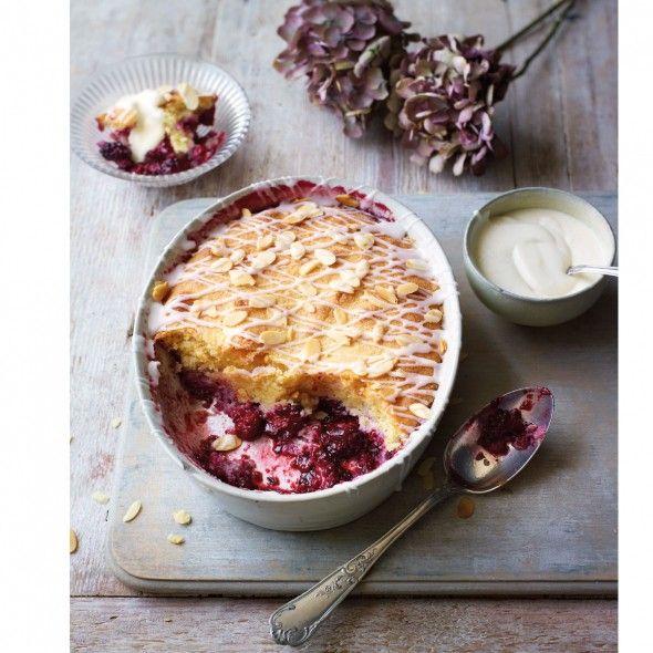 Blackberry bakewell pudding - blackberry recipe - Good Housekeeping
