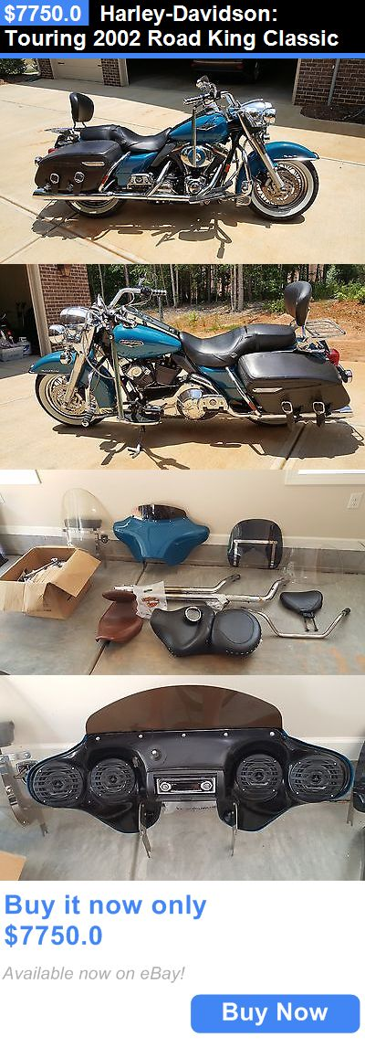 Motorcycles: Harley-Davidson: Touring 2002 Road King Classic BUY IT NOW ONLY: $7750.0