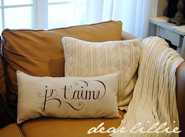 Sharpie Pillow. Lovely!