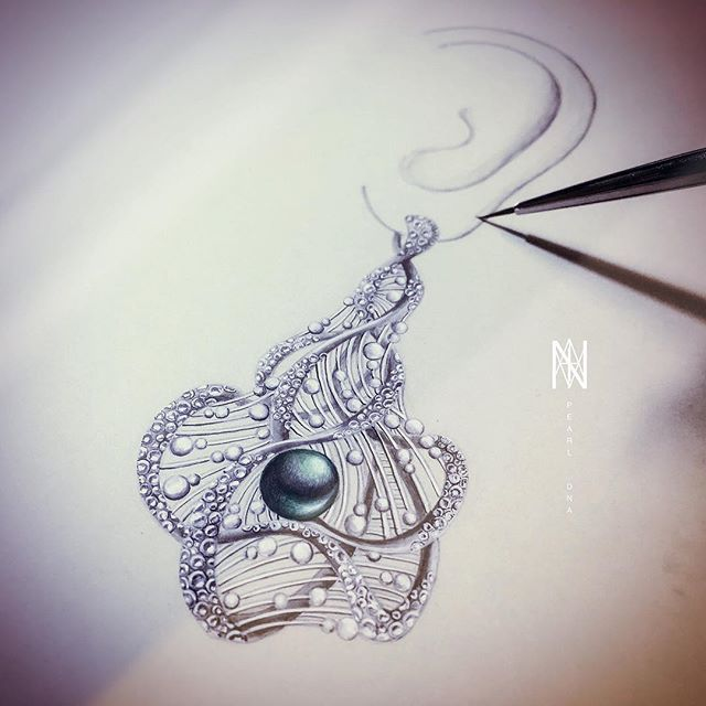 . ⋯到底算什麼 #jewelrypainting #jewelrycontest #jewelrydesign #pearl #dna #earrings