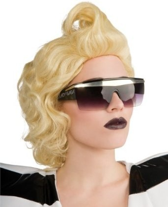 Lady GAGA Sunglasses, Officially Licensed Lady Gaga Costume Glasses, They Will Not Last! --- http://www.pinterest.com.tocool.in/3a