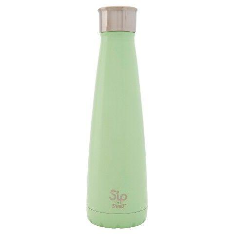S'ip by S'well Spearmint Green Stainless Steel Water Bottle 15oz