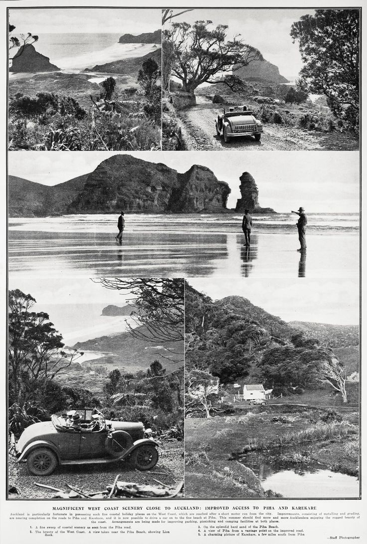 Piha and Karekare. 1932. Sir George Grey Special Collections, Auckland Libraries, AWNS-19321012-41-1