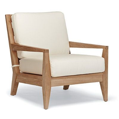 Peyton Lounge Chair With Cushions - Bermuda Breeze Tropical, Special Order - Frontgate