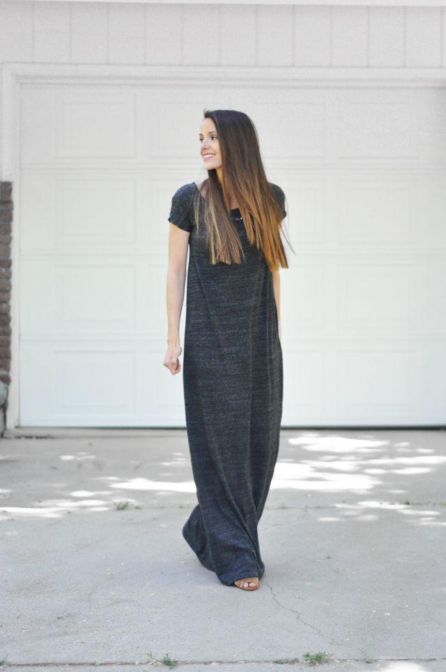 Girl Charlee Fabrics: Tutorial Tuesday:: Tee Shirt Maxi Dress from Cotton + Curls