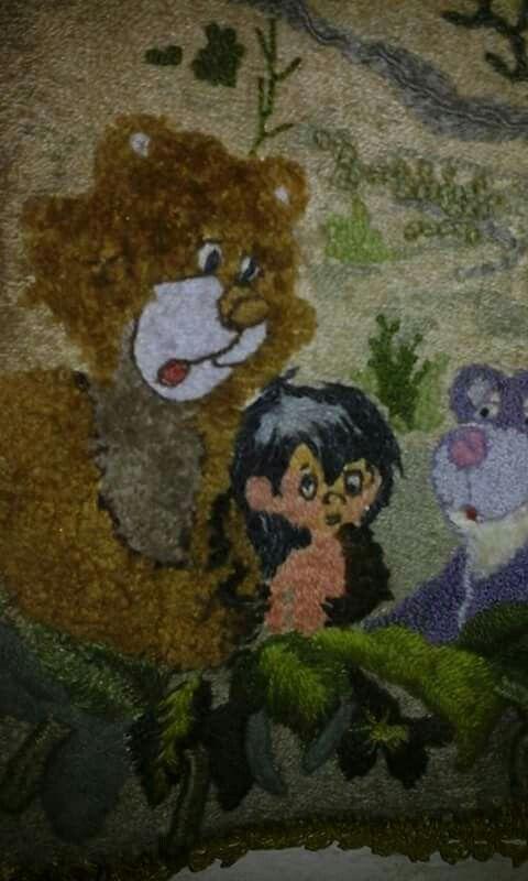Crewel pintura para niño