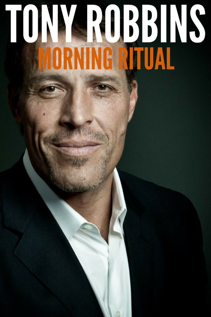 Tony Robbins Morning Ritual was explained in the book Tools of Titans, by Tim Ferriss. His ritual is supposed to change his state radically! By giving him more energy, power, mental focus.