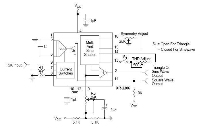 funktionsgenerator mit dem xr2206
