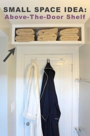 #8. Use the space above a door for extra storage! | 29 Sneaky Tips For Small Space Living