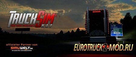 Карта TruckSim Map v6.6 Final для Euro Truck Simulator 2