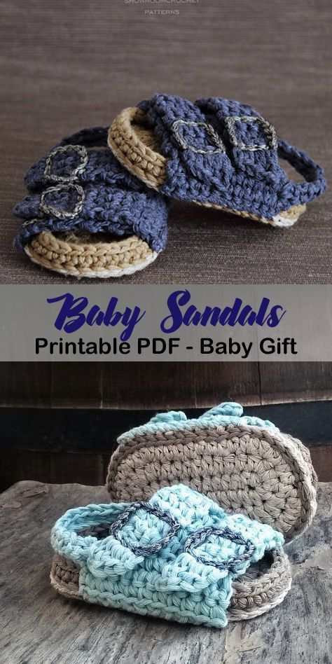 Birkenstock style baby sandals – adorable summer baby shoes crochet pattern