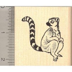Lemur Rubber Stamp