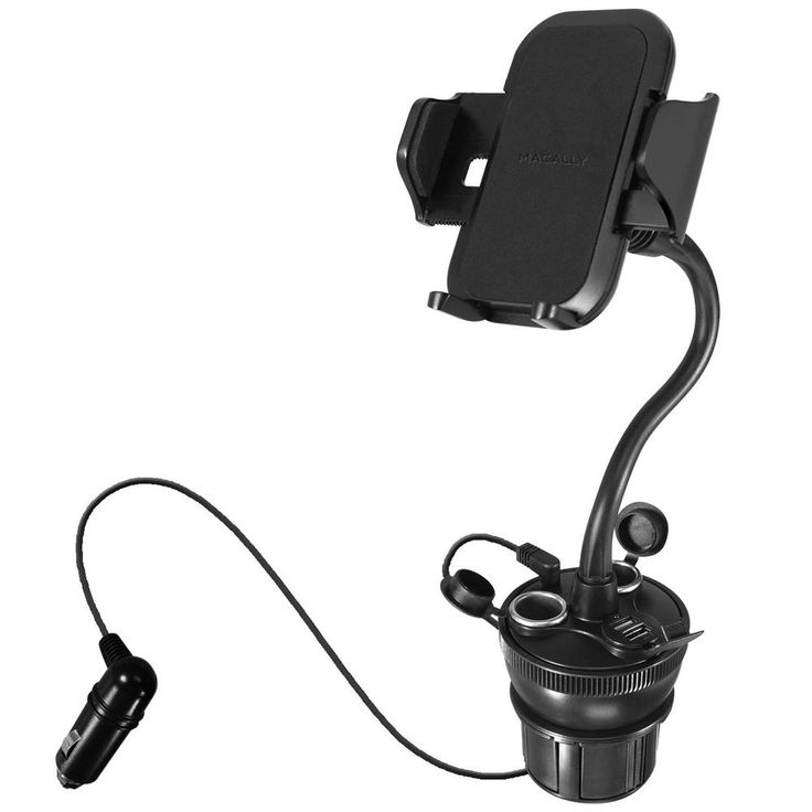 8 in. Long Neck Adjustable Car Cup Holder Phone Mount
