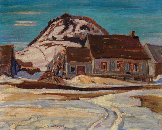 A.Y. Jackson - Ruisseau Jureux Quebec 8.5 x 10.5 Oil on board (1930) sold for $27500 at Heffel online auction October 2016