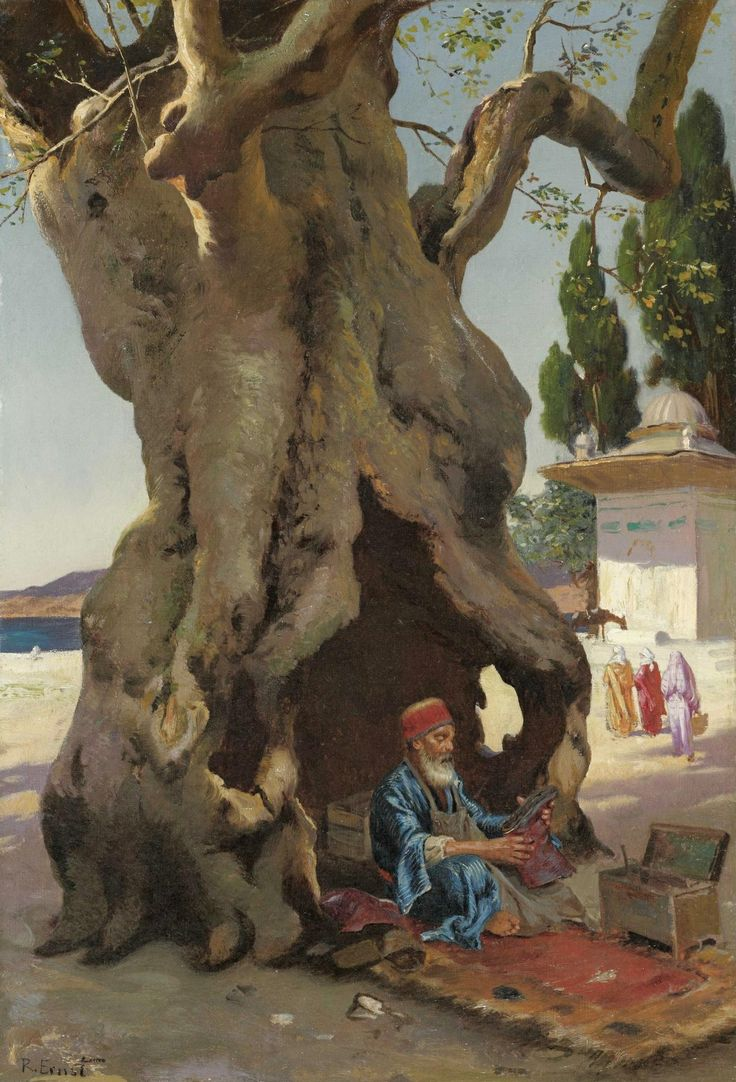 Cobbler in the Shade of a Baobab Tree, Rudolph Ernst http://www.pinterest.com/jordibjoseph/orientaism/ @@@@@@@@@@