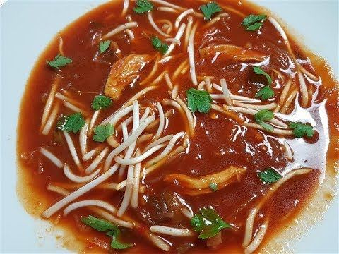 """""""Chinese Tomato Chicken Soup Recipe"""" """"with Bean Sprouts Leek Spring Onio..."""