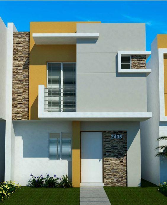 As 25 melhores ideias de pintura para casa exterior no for Pintura de exteriores de casas pequenas