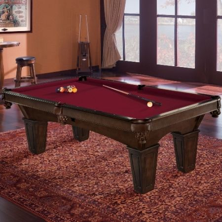 The Brunswick Glen Oaks billiard table embodies all the characteristics of a quintessential pool table, so it'll be a great addition to any game room.