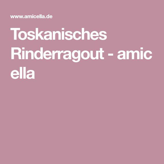 Toskanisches Rinderragout-amicella