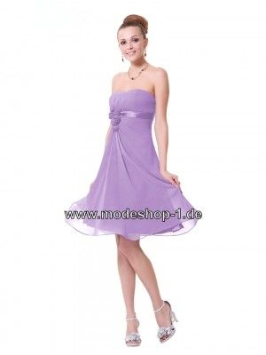 Trägerloses Cocktail Kleid in Flieder Mitellang   Cocktailkleider ...