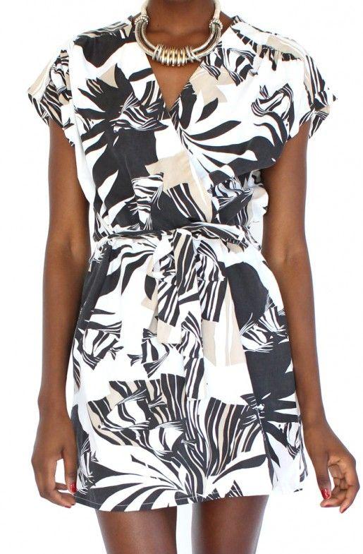 Safari Print Wrap Dress (Medium)