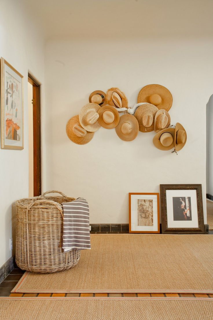 """Christina's """"Olmay Oh My!"""" House Tour » Love the hats on the wall."""