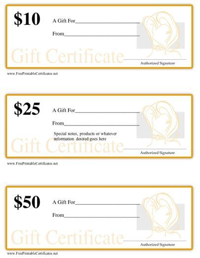 17 mejores im genes sobre gift certificates en pinterest for Free printable hair salon gift certificate template