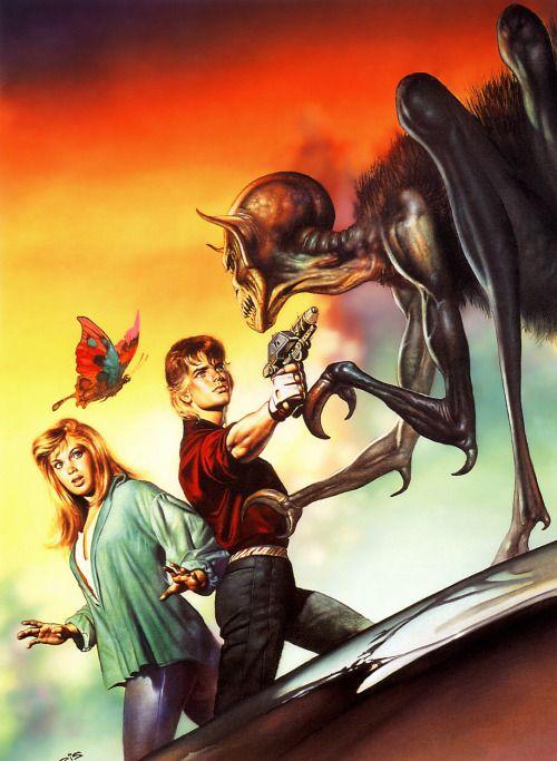 Boris Vallejo - Jason and the alien, 1987.