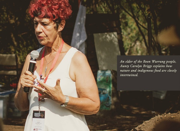 An elder of the Boon Wurrung people, Aunty Carolyn Briggs explains how nature and indigenous food are closely intertwined at Melbourne Food and Wine Festival Earth MasterClass