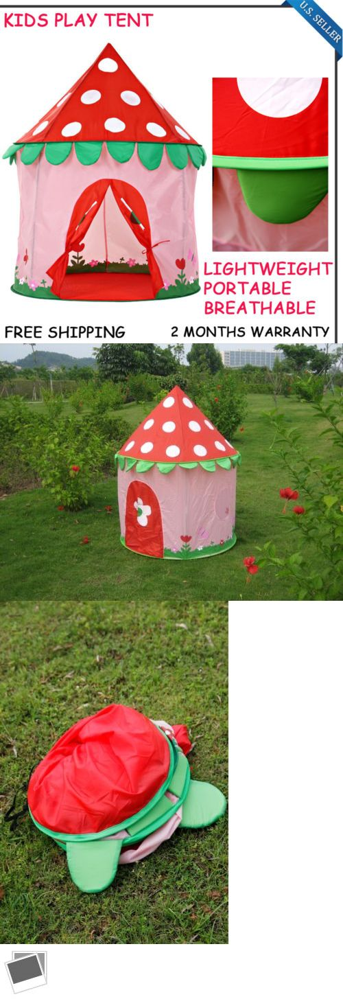 Other Play Tents and Tunnels 11744: Kids Play Tent Strawberry Castle Fun Playhouse Children S Gift Foldable Fun Play -> BUY IT NOW ONLY: $68.7 on eBay!