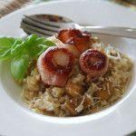 Gourmet-Resteküche:+Saltimbocca+von+der+Jakobsmuschel+mit+Steinpilzrisotto