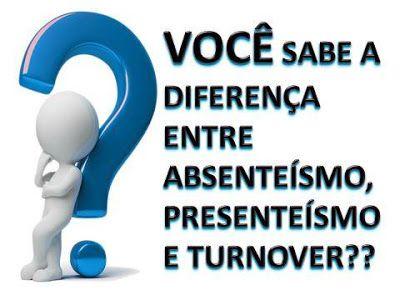 JORGENCA - Blog Administração: Diferenças entre Absenteísmo, Presenteísmo e Turno...