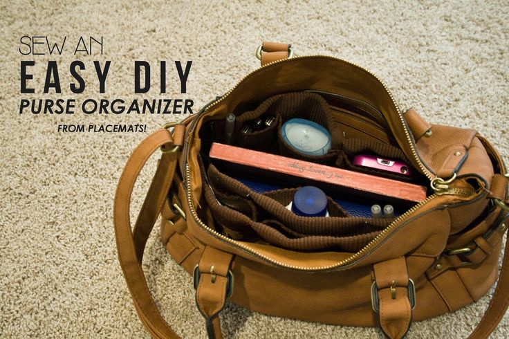 Can't find a thing in your purse? Whip your bag into shape with this easy DIY purse organizer. Click in for the complete instructions from Five Sixteenths Blog.