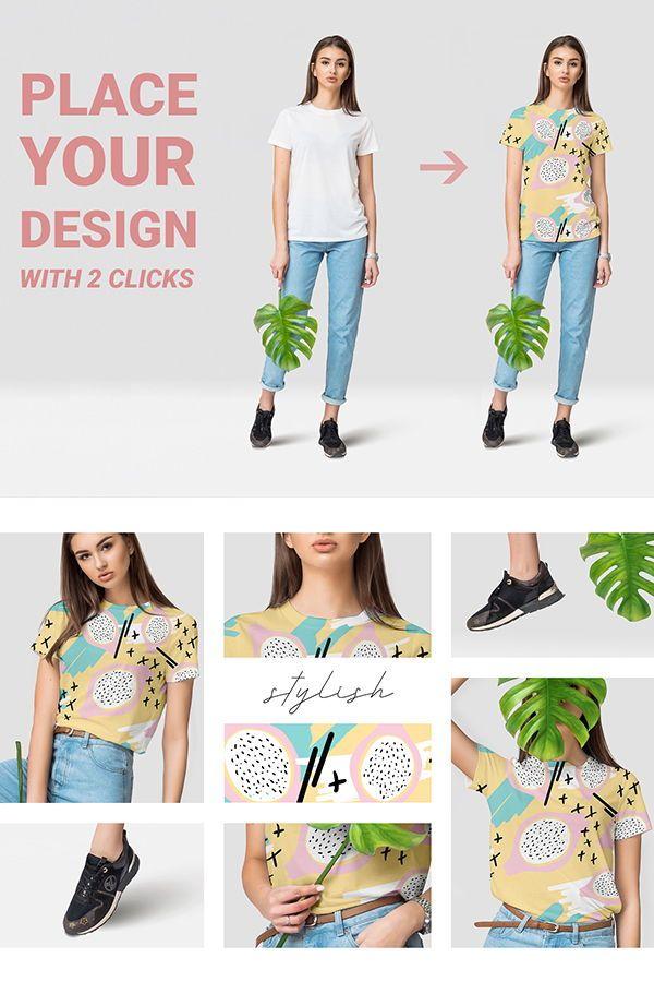 Download Female T Shirt Mockups Free Demo Shirt Mockup Clothing Mockup T Shirts For Women