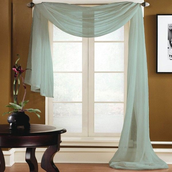 Miller Curtains Preston Window Scarf (94 BAM) ❤ Liked On Polyvore Featuring  Home,