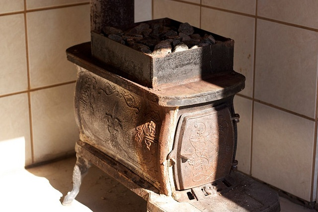 Old Sauna Stove by Katruje, via Flickr this is cool old one