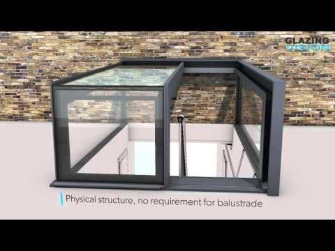 Glazing Vision bespoke one wall box access skylight - YouTube