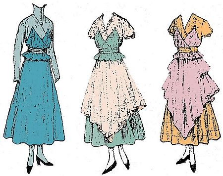 1918 Dinner Dress With Optional Tunic