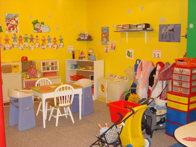 Dress up and kitchen area my home childcare daycare for Daycare kitchen ideas