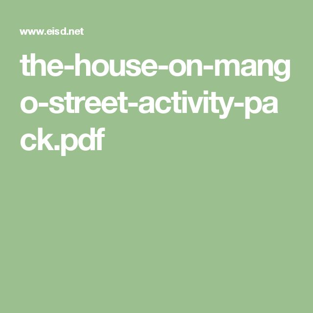 Best 25+ The house on mango street ideas on Pinterest | 8th st ...