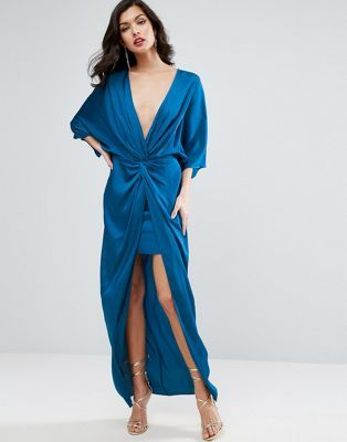 ASOS Kimono Twist Front Maxi Dress