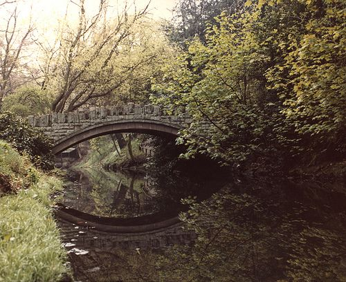 https://flic.kr/p/7dDDfu | 037362:Jesmond Dene Newcastle upon Tyne City Engineers 1978 | Type : Photograph Medium : Print-colour Description : A view of Jesmond Dene Newcastle upon Tyne taken in 1978.  The photograph shows one on the stone bridges across the river.  The reflection of the bridge can be seen in the water.Jesmond Dene was donated to the city by Lord Armstrong in 1883.Parks Collection : Local Studies Source of Information : +Duplicate Printed Copy : If you would like a printed…