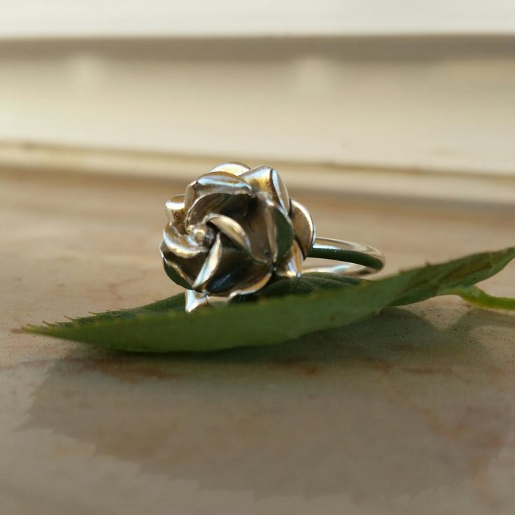 Sale of the day. Handmade Rose ring made of sterling silver. Perfect gift for her