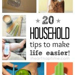 20 household tips to make your life easier on iheartnaptime.net
