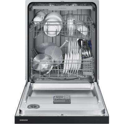 540 24 In Front Control Dishwasher In Black With Plastic Tub And
