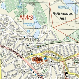 Location map of Willoughby Road, Hampstead, NW3. Flat to rent (Property to rent) through Foxtons Estate Agents